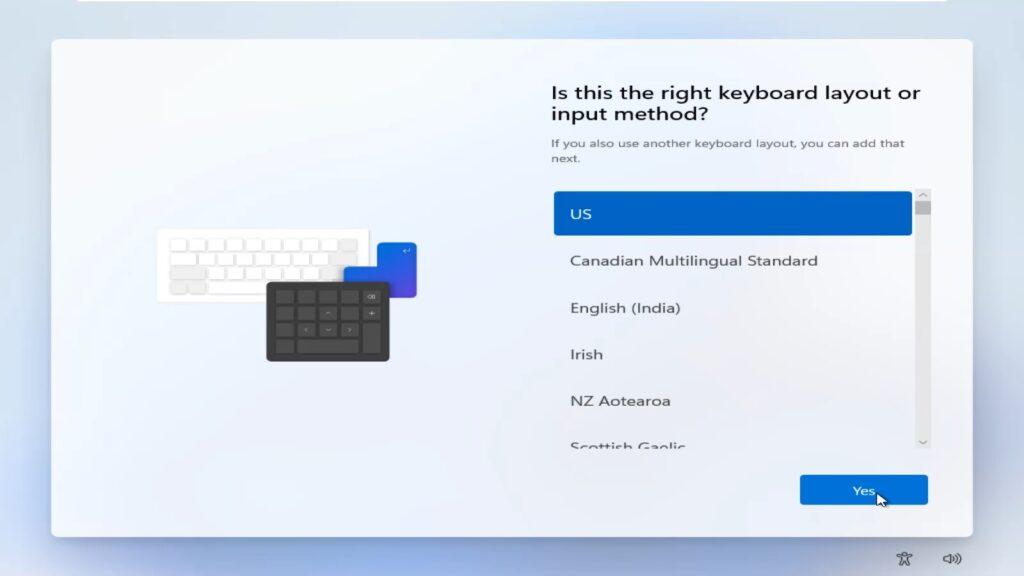 Windows 11 keyboard layout